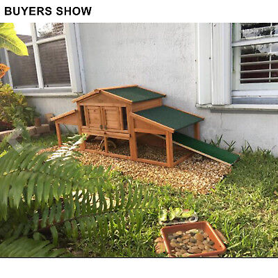 """SALE! Merax 70"""" Wooden Chicken Coop Rabbit Hutch Cage Pet Supply w/ 2 ramp, used for sale  Los Angeles"""