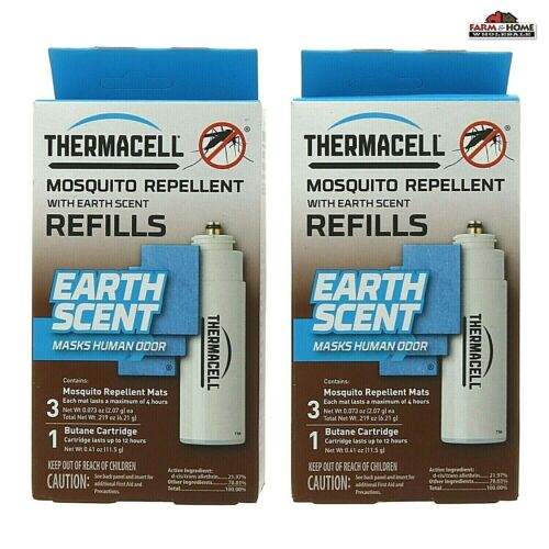 (2) Thermacell Earth Scent Mosquito Repellent Refills ~ New