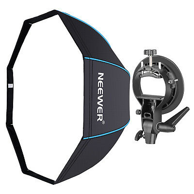 "Neewer Studio 32"" Octagonal Softbox with Blue Edges and S-Type Bracket Holder"