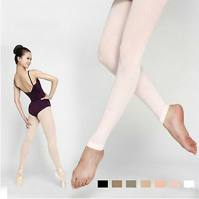 Women Footless Dance Tights with Waist and Crotch Lady Ballet Fitness Dancing