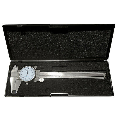 Hfsr 0- 6 4 Way Dial Caliper .001 Shock Proof Plastic Case