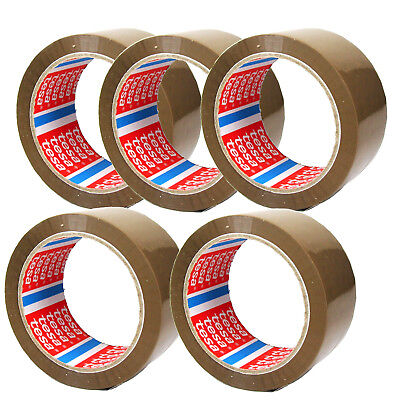 5 Rollen Tesa Brown Adhesive Tape Packing Packaging 216 6/12ft x 1 31/32in