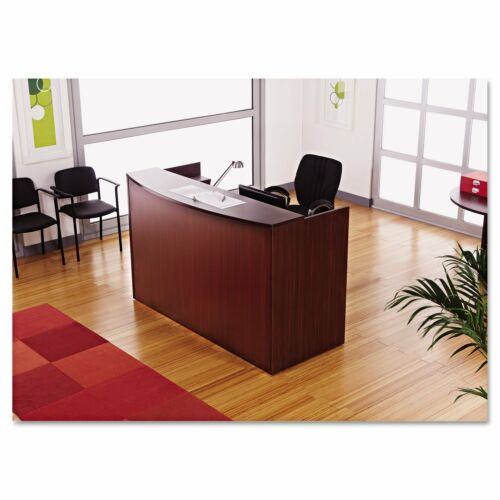 Laminate Office Furniture Reception Desk in Mahogany Finish