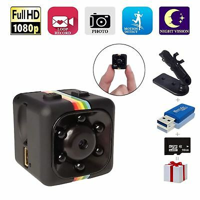 Mini Hidden Spy Wireless Camera HD 1080P Motion Detection Night Vision 16GB Card
