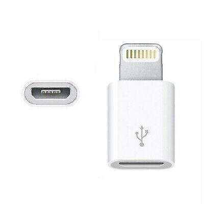 Adaptador Cargador Android A Iphone USB Blanco Compatible Con Iphone 6 7...
