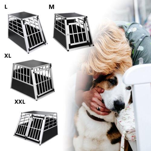 Hundetransportbox Alu Hundebox Kofferraumbox Hundekäfig Transportbox Auto M-XXL