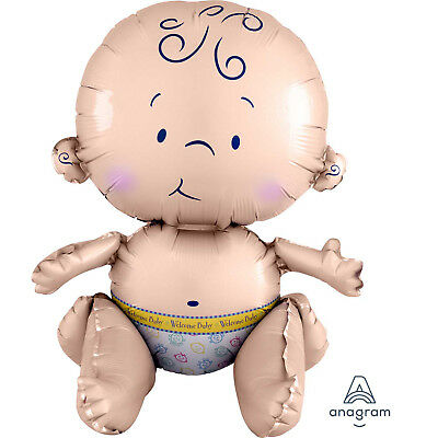 Sitting Baby Balloon Baby Shower New Baby Air Fill 15