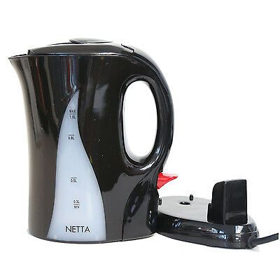 Netta 1 Litre Fast Boiling Electric Portable Travel Jug Kettle 1L 220-240V