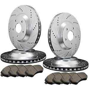 FRONT-amp-REAR-4-DRILLED-amp-SLOTTED-BRAKE-ROTORS-amp-8-SEMI-METALLIC-PADS-ATL022419