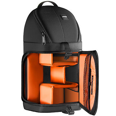 Neewer Pro Camera Case Sling Backpack Bag for Nikon Canon Sony Orange Interior Pro Camera Bags