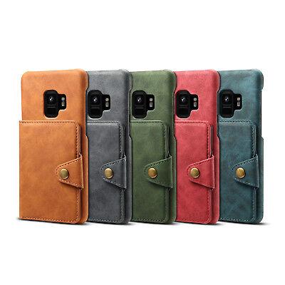 Karten Schlitz Halter PU Leder Wallet Hülle Back Etui Für iPhone X 8 Samsung S9+ (Wallet 9 Karten-halter)