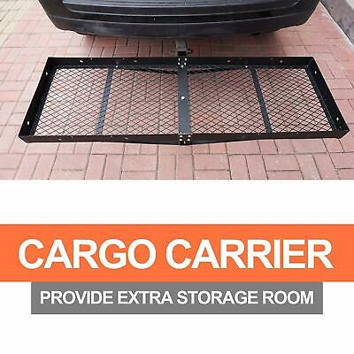 Trailer Hitch Cargo Carrier Rack Mounted Cargo Basket Folding Car SUV Holder Folding Hitch Mounted Cargo