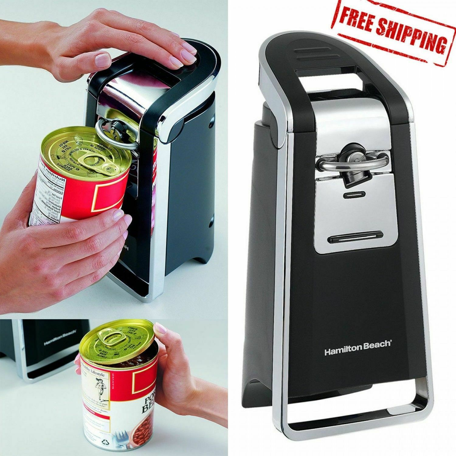 Hamilton Beach Electric Can Opener Smooth Edge Touch Commerc