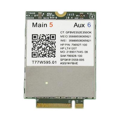 For HP LT4120 T77W595 NGFF 4G WWAN Modem Module Wireless Network Card 150Mbps OF