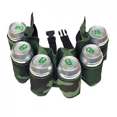 Biergürtel Camouflage Sixpack Trinkgürtel Bier Flasche Gürtel Tarn Tarnfarben (Six Pack Bier)