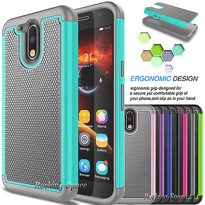 Hybrid Shockproof Rugged Rubber Hard Case Cover for Motorola Moto G4 / G4 (Best Moto G4 Cases)