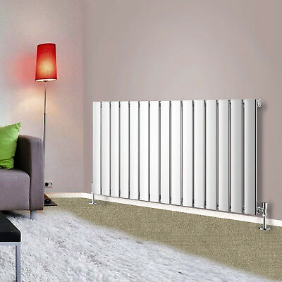 600x1020mm Chrome Single Panel Designer Radiator Horizontal Bathroom Heating Rad
