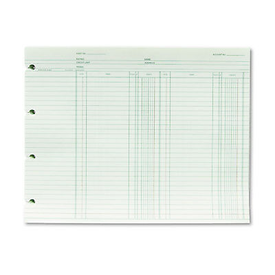 Wilson Jones Accounting 9-14 X 11-78 100 Loose Sheetspack Gn2b
