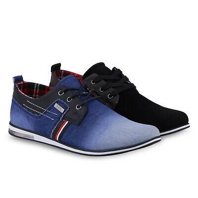 Herren Sneakers Low Modische Freizeit Schnürer Metallic 811375 Schuhe