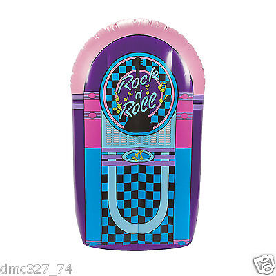 50s Grease Sock Hop Party Decoration Photo Prop Rock & Roll Inflatable JUKEBOX  (Jukebox Prop)