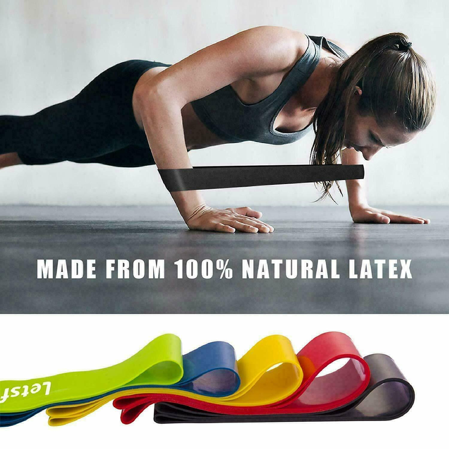 RESISTANCE BANDS SET LOOP Exercise Yoga Elastic Fitness Gym Training Workout Fitness Equipment & Gear