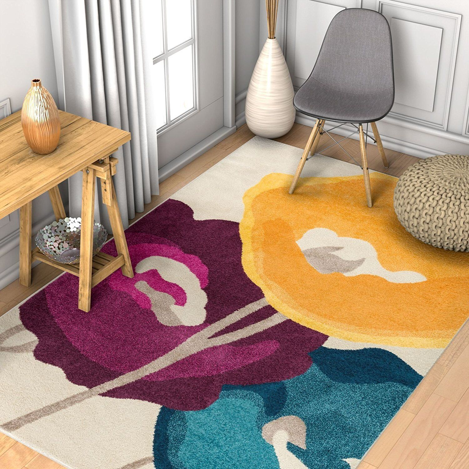 Rugs Area Rugs Carpet Area Rug Floor Large Modern Colorful Floral Cool 5x7 Rugs Ebay