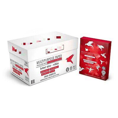 Multipurpose Copy Paper 20 Lb. 92-bright 8.5 X 11- 10 Ream Case.