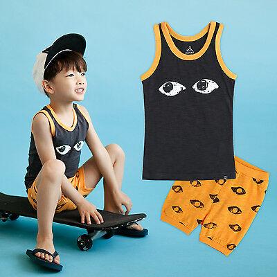 "Vaenait Baby Infant Kids Boy Short Pajama set Outfit Clothes ""Navy eyes"" 2T-5T"