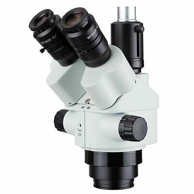 Amscope 7x-45x Simul-focal Trinocular Zoom Stereo Microscope Head - White