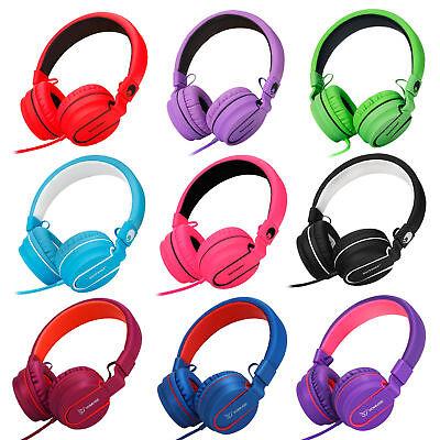 RockPapa Over Ear Foldable Headphones Headsets for iPhone Samsung DVD iPod (Samsung Foldable Headphone)