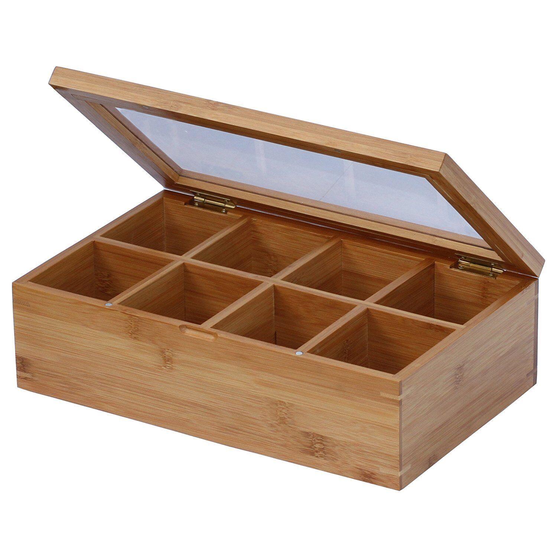 Oceanstar Design Bamboo Tea Box