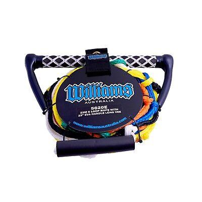 Williams 5 Loop Water Ski Rope & Handle Long V Wakeboarding & Kneeboarding