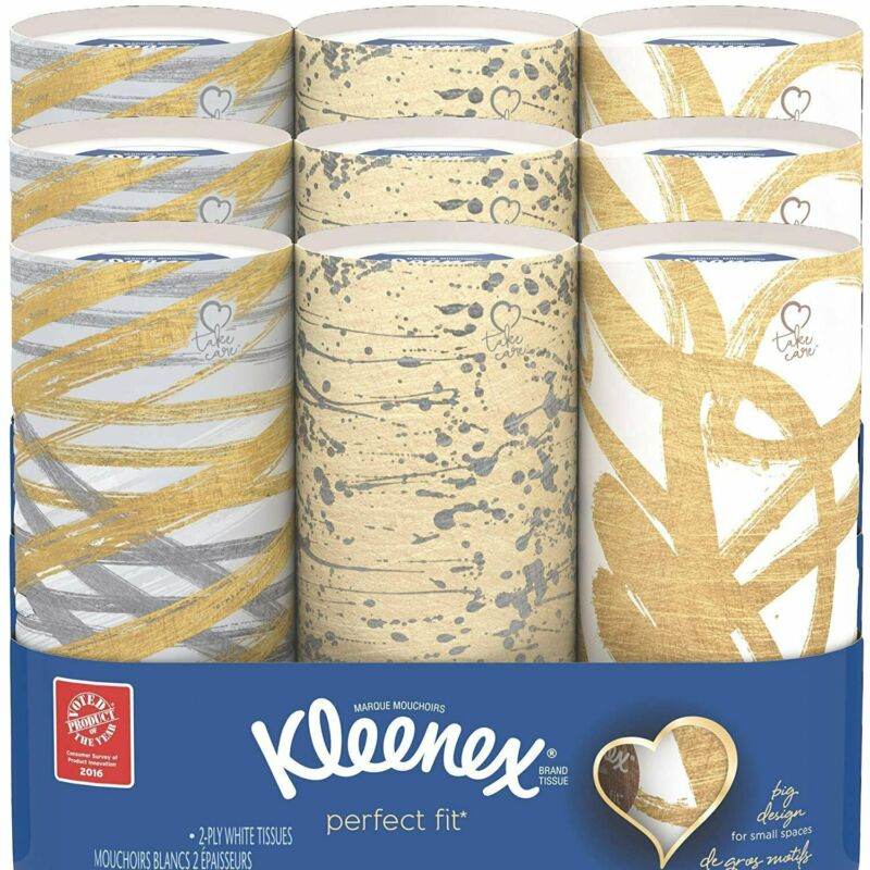 Kleenex Perfect Fit 50 Count Tubes, Pack of 9