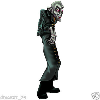 HALLOWEEN Party Prop Decoration Paper Cutout Vampire GHOUL Monster 35 inch