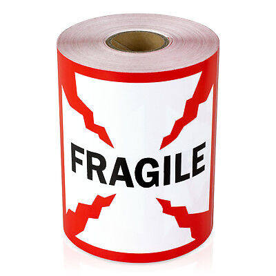 1200 Labels - Fragile Stickers Caution Shipping Warning Labels 4 X 4 4pk