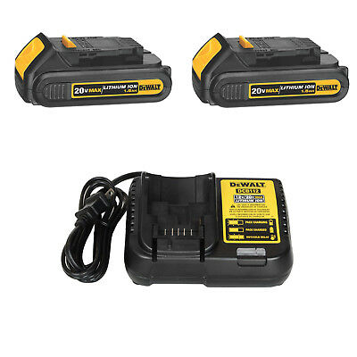 DEWALT DCB201R 2 Pack 20V MAX Li-Ion Batteries & DCB112R 20 Volt Battery Charger