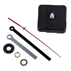 Quartz Clock Movement Mechanism DIY Repair Parts Black + Hands FK