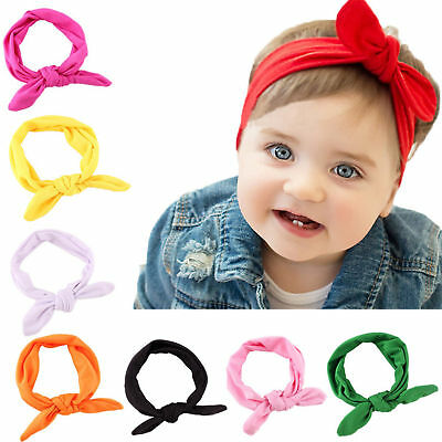 8pcs Kids Girl Baby Headband Toddler Lace Bow Flower Hair Band Accessories - Baby Flower Headband