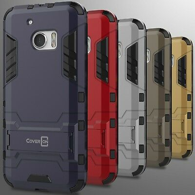 For HTC 10 Case Hard Slim Protective Impact Armor Hybrid Kickstand Phone Cover (Htc Protective Case)