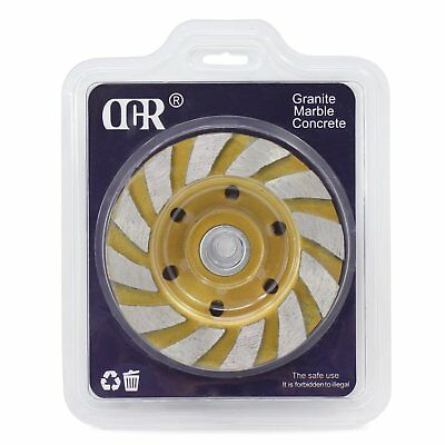 Ocr 4 Concrete Turbo Diamond Grinding Cup Wheel Three Row Turbo Cup Disc