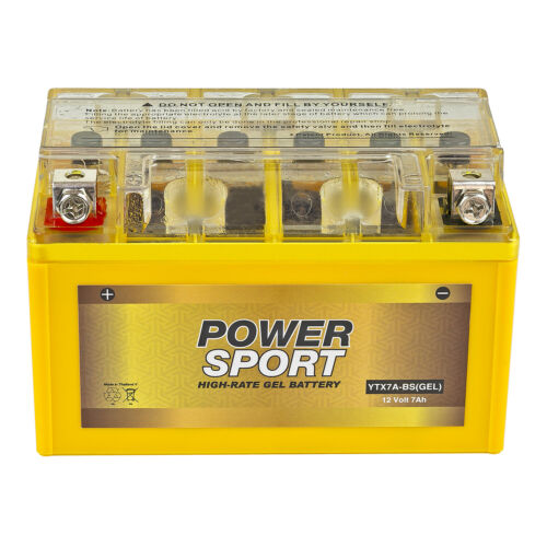 YTX7A-BS 12V 7Ah Maintenance Free Sealed GEL Battery for Motorcycle, ATV