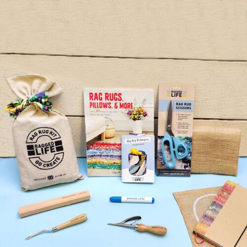 Rag Rug Ultimate Kit w/ Signed Rag Rug Book & Sharp Scissors - Ragged Life
