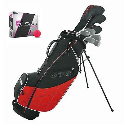 Wilson Ultra Men's Complete 13 Piece Right Handed Golf Club Set w/ Bag & Balls (Mens Golf Club Sets)