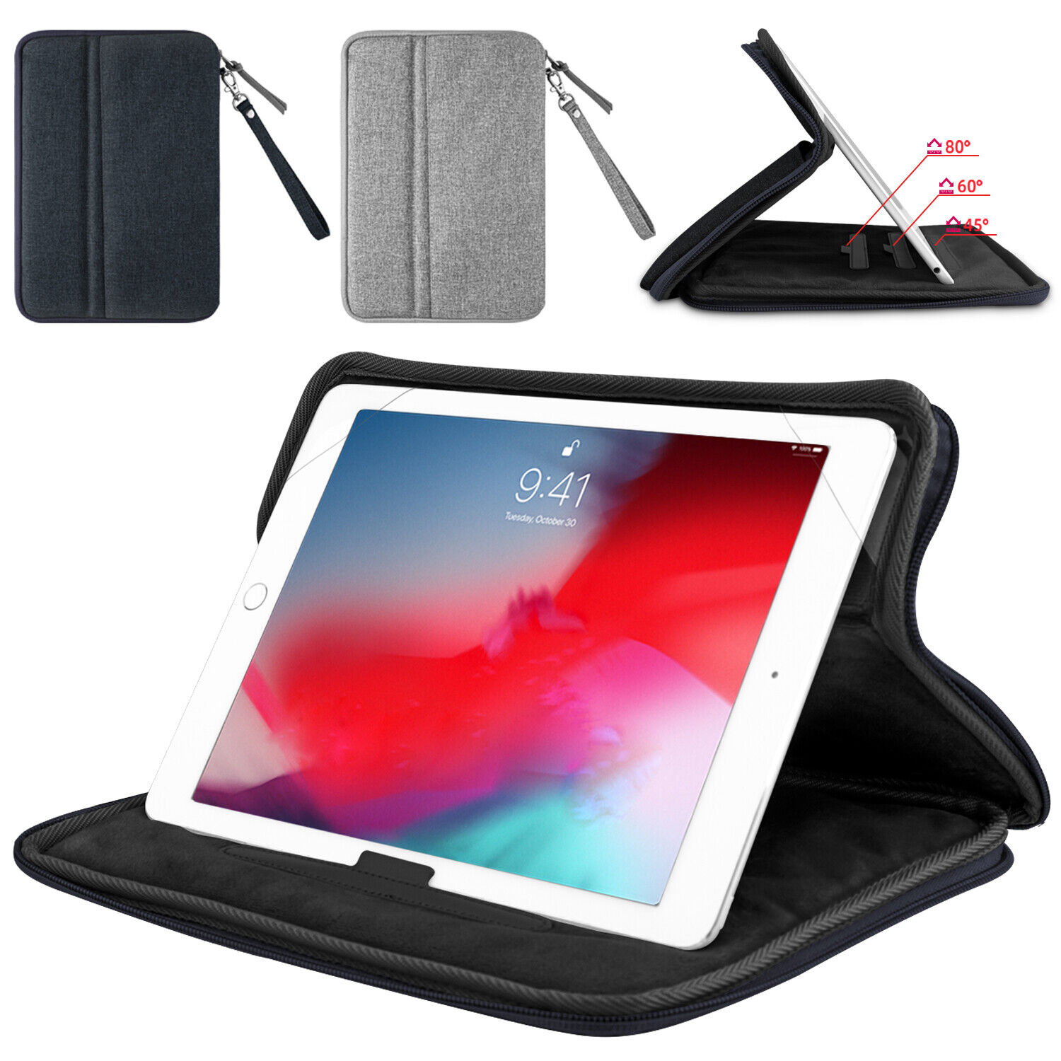 universal-7-11-folio-stand-case-zippered-cover-for-ipad-6th-gen-2018-mini-air