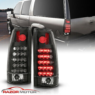 1988-1999 Chevy C/K C10 1500/2500/3500 Blazer Escalade G2 Black LED Tail Lights