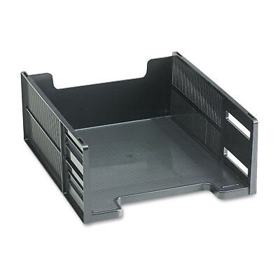 (Rubbermaid Stackable High Capacity Front Load Letter Tray Polystyrene Ebony)