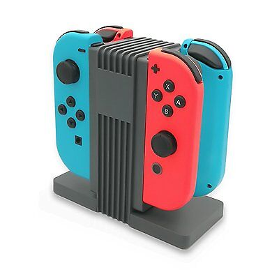 For Nintendo Switch Joy-Con Charge Stand 4-Controllers Charging Dock Charger