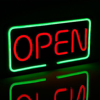 19.7 X 9.8 Open Led Neon Light Sign Red Green Window Displaying Broad
