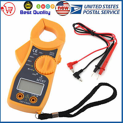 600a Digital Clamp Meter Multimeter Ac Dc Volt Ohm Amp Auto Ranging Tester Usa