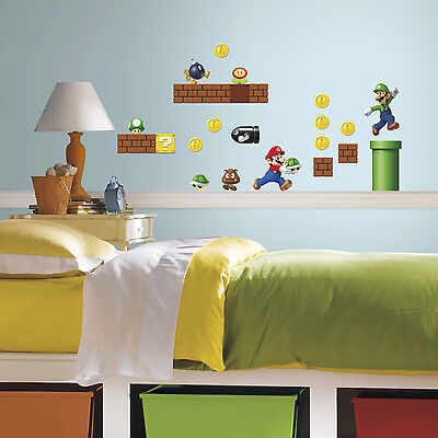Super Mario Brothers Dekorationen (Super MARIO Brothers Build a Scene wall stickers 45 decals Nintendo scrapbook)